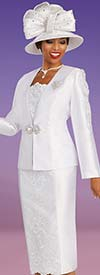 Ben Marc 48335 First Lady Church Suit With Lace Inset Design