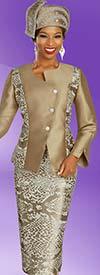 Ben Marc 48336 Ladies Multi Print Skirt Suit With Asymmetric Style Wrap Jacket