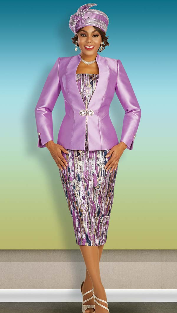 Ben Marc 48341 Womens Printed Skirt Suit With Satin Jacket