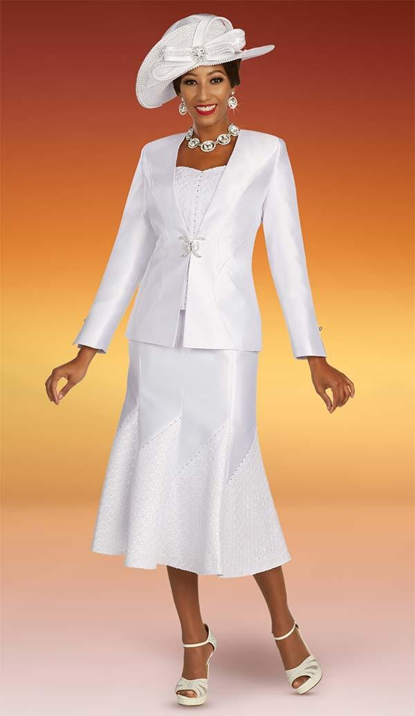 Ben Marc 48346 Womens Church Suit With Godet Skirt