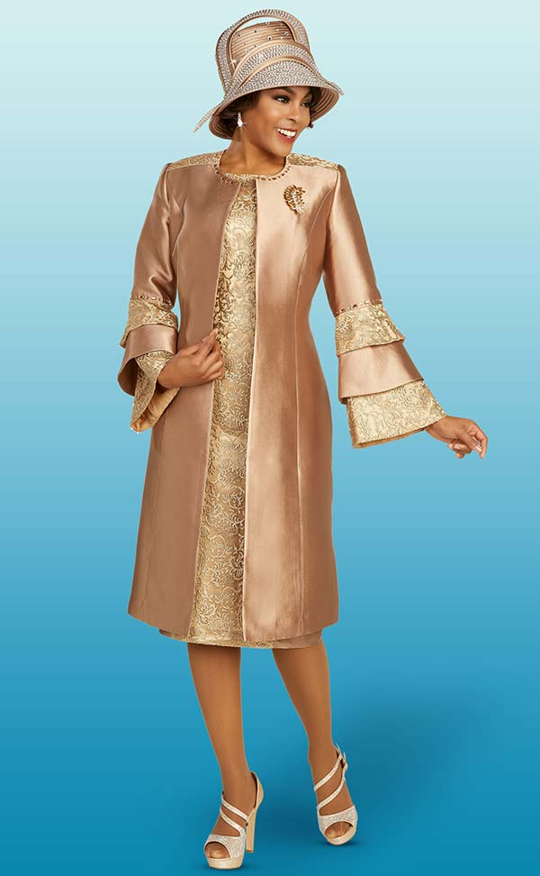 Ben Marc 48358 Ladies Church Dress With Multi Tier Sleeve Duster Jacket