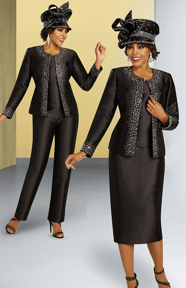 Ben Marc 48368 Four Piece Embellished Womens Wardrobe Suit With Skirt And Pants