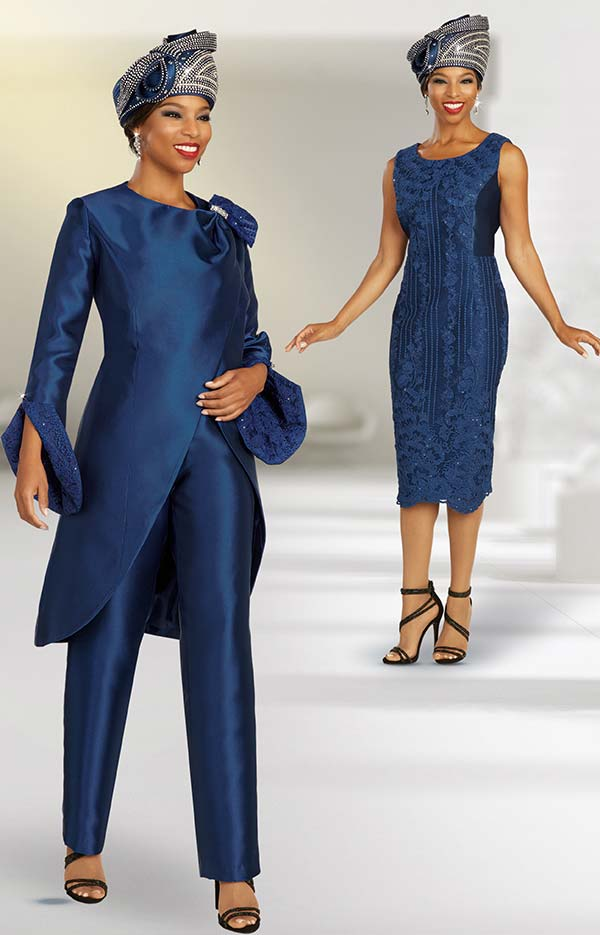 Ben Marc 48369 Three Piece Church Wardrobe Suit Set Including Sleeveless Dress And Pants With Jacket