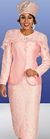 Ben Marc 48371 Womens Lace And Satin Church Suit With Detachable Cape