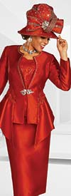 Ben Marc 48372 Ladies Church Suit With Applique Embellished Jacket