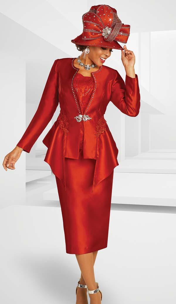 Ben Marc 48372 Ladies Church Suit With Applique Embellished Jacket