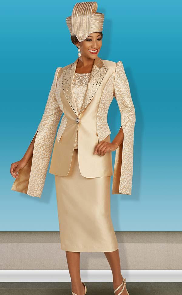 Ben Marc 48385 Church Skirt Suit With Peak Lapel Extended Split Sleeve Jacket