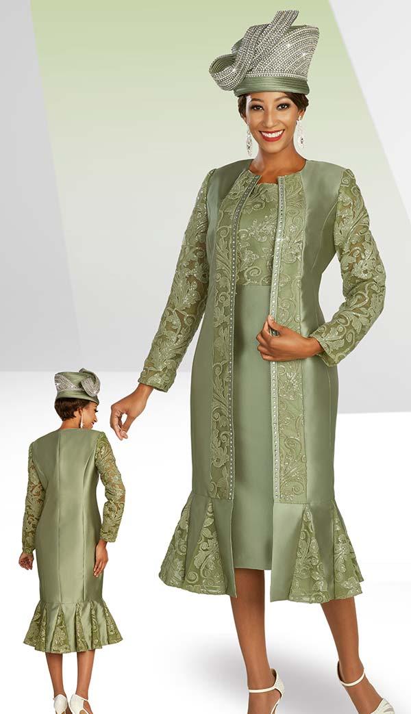 Ben Marc 48387 Womens Church Dress With Godet Pleat Detailed Hem Duster Jacket