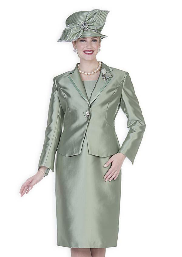 Champagne 5127 Twill Satin Notch Lapel Jacket & Dress Set