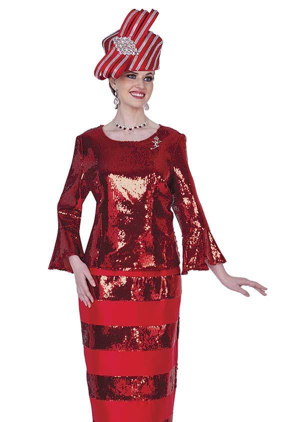 Champagne 5206 Novelty Brocade Design Skirt Set