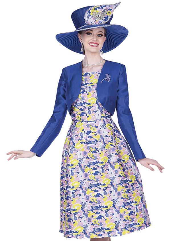 Champagne 5316 Novelty Poly Print Fabric Dress With Twill Satin Bolero Jacket