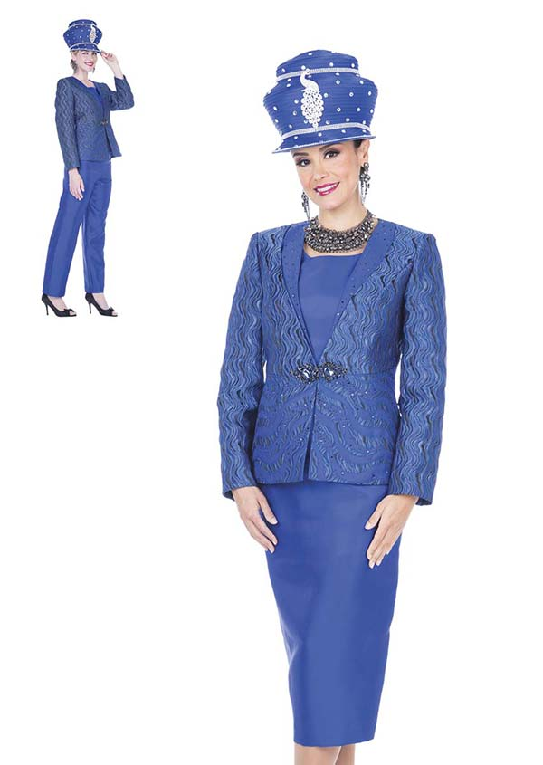 Champagne 5103 Four Piece Twill Satin Womens Suit Wardrober With Novelty Brocade Jacket