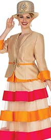 Elite Champagne 5005 - Ladies Layered Church Dress With Satin Twill Jacket