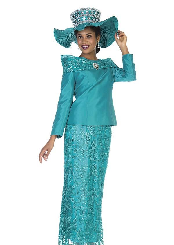 Champagne 5111 Twill Satin Jacket & Lace Fabric Skirt Set