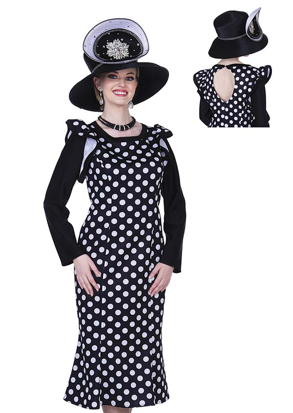 Champagne 5307 Special Poly Print Fabric Design Dress In Polka Dot Design