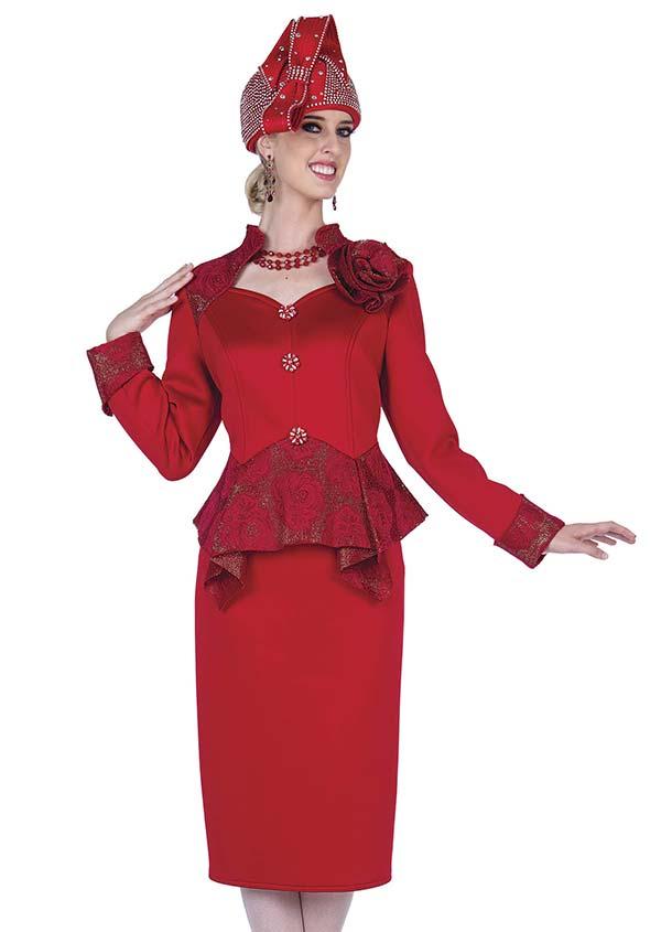 Champagne 5309 Scuba Fabric Dress With Peplum Trim