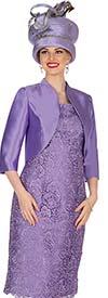 Champagne 5404 Twill Satin Jacket & Novelty Lace Fabric Dress Set