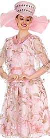 Champagne 5408 Floral Print Jacket & Pleated Dress Set