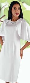 Chancele 9529 - Jeweled Neckline Sheath Dress Featuring Cape Design