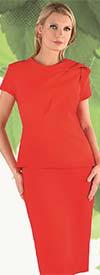Chancele 9538 - Drape Sheath Dress With Shoulder Fold Detail