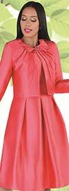Chancele 9549 - Sleeveless Dress With Longsleeve Pleated Bow Neckline Jacket