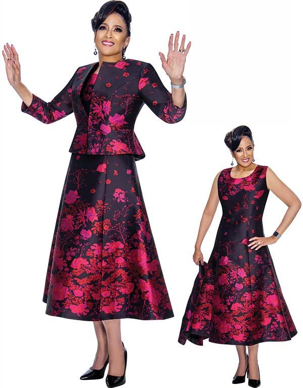 DCC - DCC1842 Floral Printed A-Line Dress