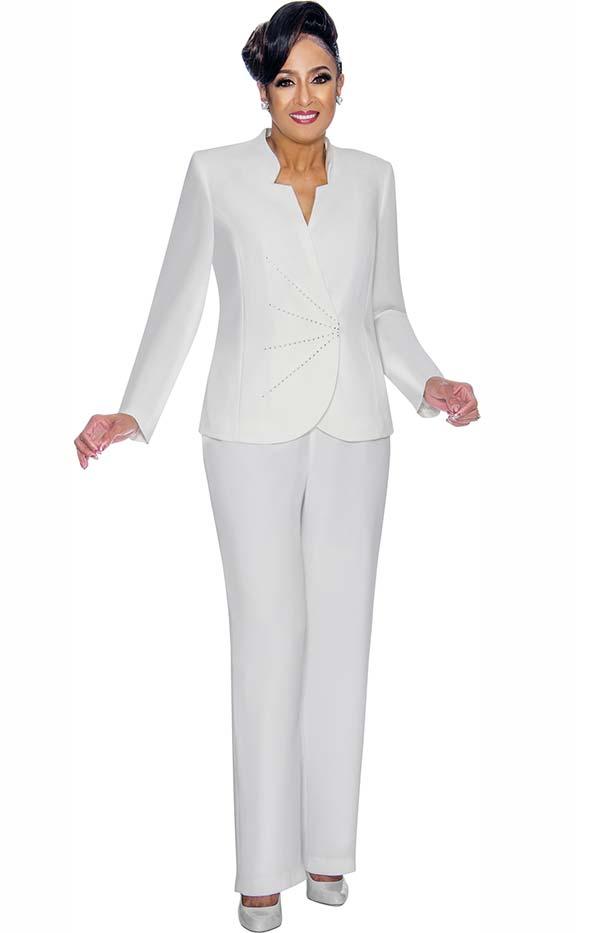 DCC - DCC1912 Womens Pant Suit With Star Neckline Wrap Style Jacket
