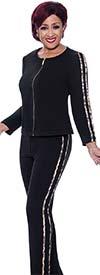 DCC - DCC3742 - Womens Pant And Jacket Jog Set With Animal Print Trim