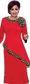 DCC - DCC4002 - Womens Animal Print Trim Skirt And Tilted High-Low Hem Jacket Set