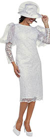 DCC - DCC3722 - White - Lace Puff Bell Sleeve Dress