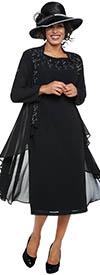 DCC - DCC3732 - Black - Dress and Sheer Long Jacket
