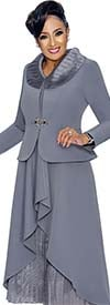 DCC - DCC1852 Womens Dress Suit With Layered Design