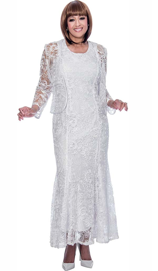 DCC - DCC142 Mesh Layered Womens Dress With Soutache Detail