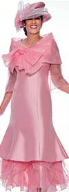 DCC - DCC2692 Organza Detailed Flared Church Dress Suit With Removable Shawl