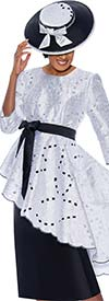 DCC - DCC3511 - Womens Church Suit With Hi-Lo Style Jacket Featuring Cut-Out & Floral Pattern Details