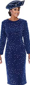 DCC - DCC3521 - Pearl Bead Embellished Long-Sleeve Dress