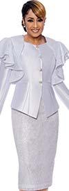 DCC-Suits - DCC9002 - Shoulder Ruffle Detailed Jacket And Skirt Suit
