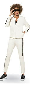 Donna Vinci Sport 21006 Ladies Stretch Cotton Fabric Jacket & Pants Set With Embellished Trim