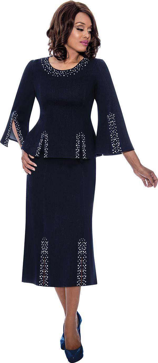 Devine Sport DS62522 - Embellished Womens Denim Skirt Suit With Split Bell Sleeve Jacket