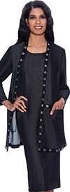 Devine Sport DS62862 - Soft Denim Dress Set Featuring Long Jacket With Grommet Details