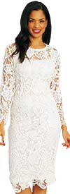 Diana 7069 - Long Sleeve Lace Dress
