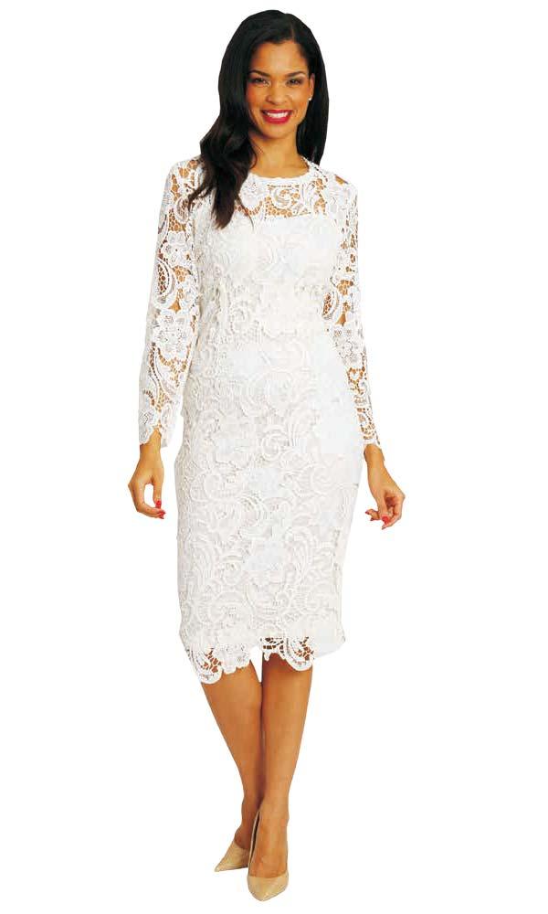 Diana 7069 - Long Sleeve Lace Dress
