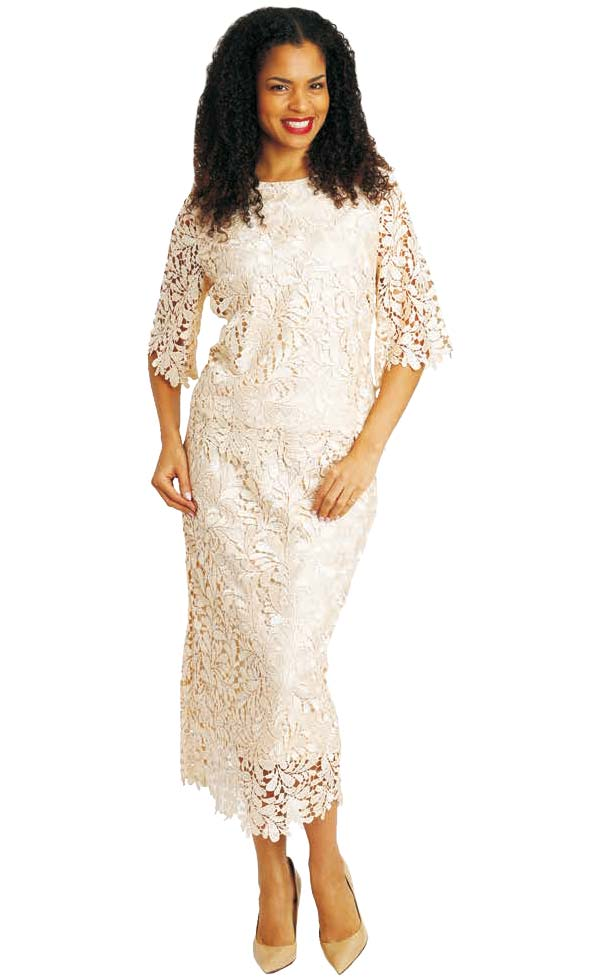 Diana 8072 - Lace Two Piece Dress And Jacket Set