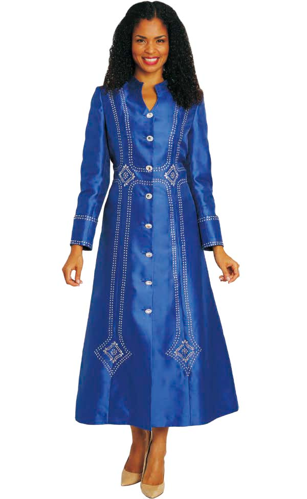 Diana 8132 - Womens Church Robe With Embellished Accents