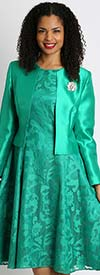 Diana 8138-Emerald - Lace Dress With Silky Twill Jacket