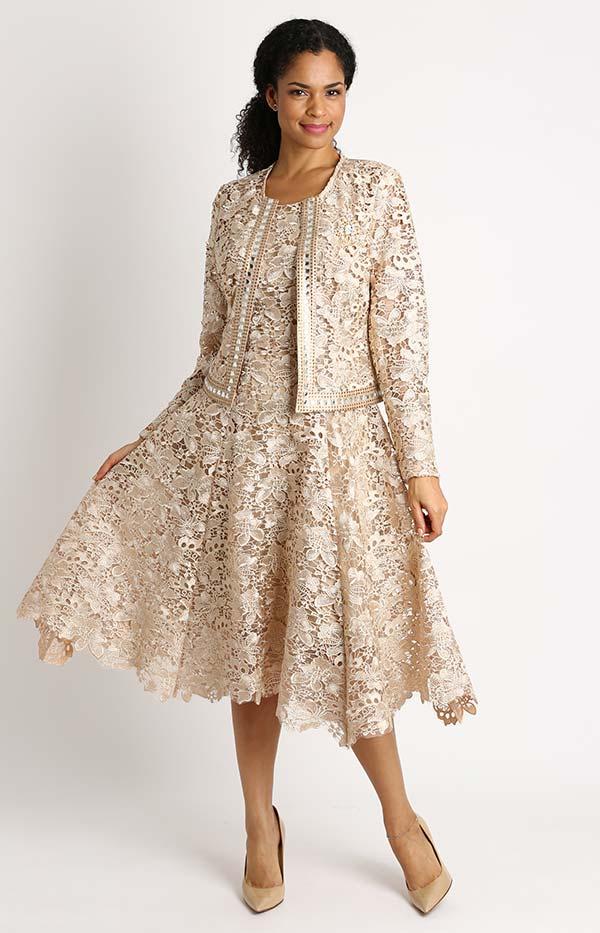 Diana 8190 - Two Piece Lace Dress And Jacket Set