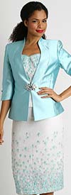 Diana 8425 - Three Piece Skirt Suit With Silky Twill Jacket