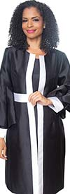 Diana 8520 - Womens Robe Style Dress With Flounce Layer Sleeves