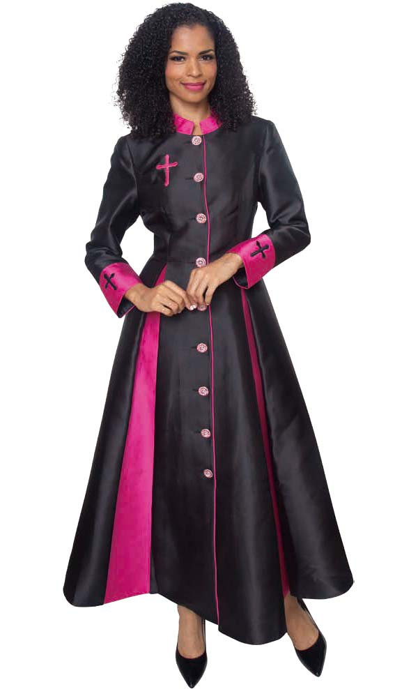 Diana 8521 - Womens Church Robe With Cross Accents