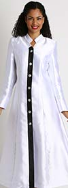 Diana 8444 - Womens Church Robe With Neckline Accents